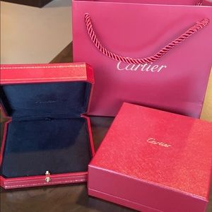 Cartier necklace box Authentic